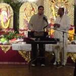 Rishi performing at Durga Puja, Liverpool