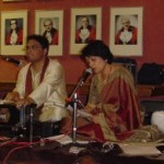 Ballari and Rishi perform Chandipath withother local artists at GMBHA Puja 2005