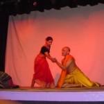 Kalithassan Chandesagaram and Sangeeta Ghosh dance together in Chandalika.