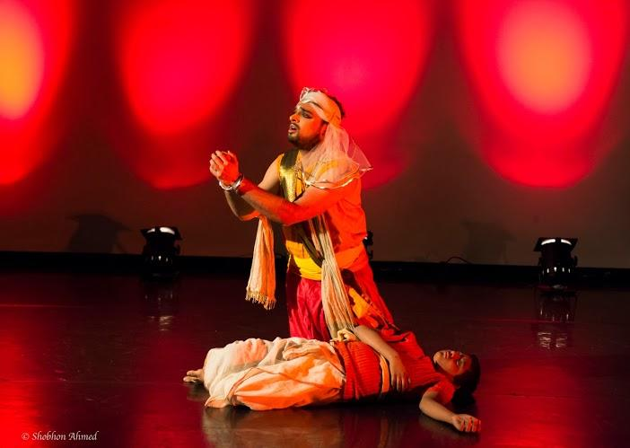 Rishi as Dasarath (Kalmrigaya) and Pratyush Ghosh as Rishikumar in Putra, London 2013